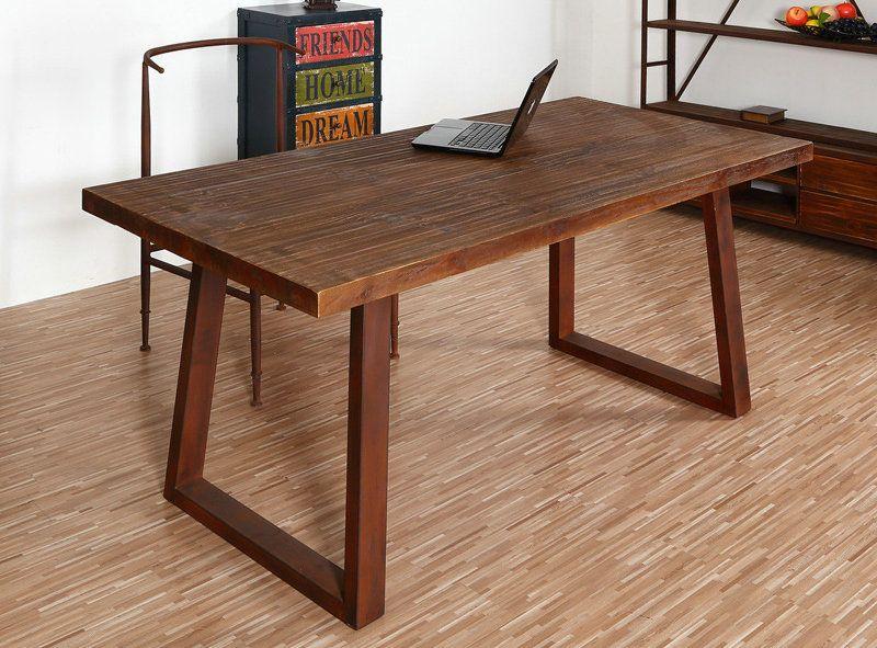 美式实木办公桌 长方形烤漆写字办公家具创意时尚会议桌 可定制