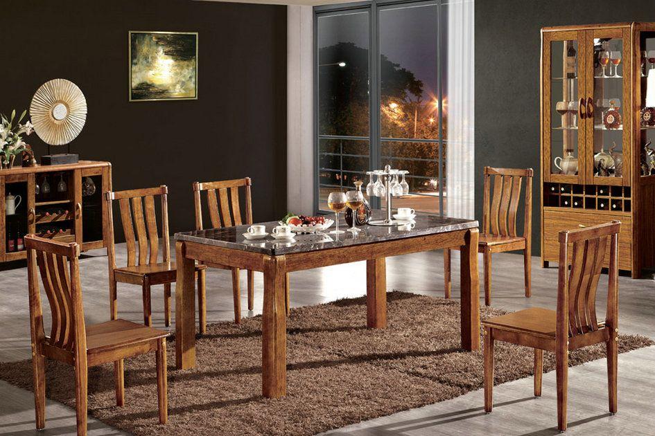 推荐DH虎斑木系列餐厅书房家具,厂家直销