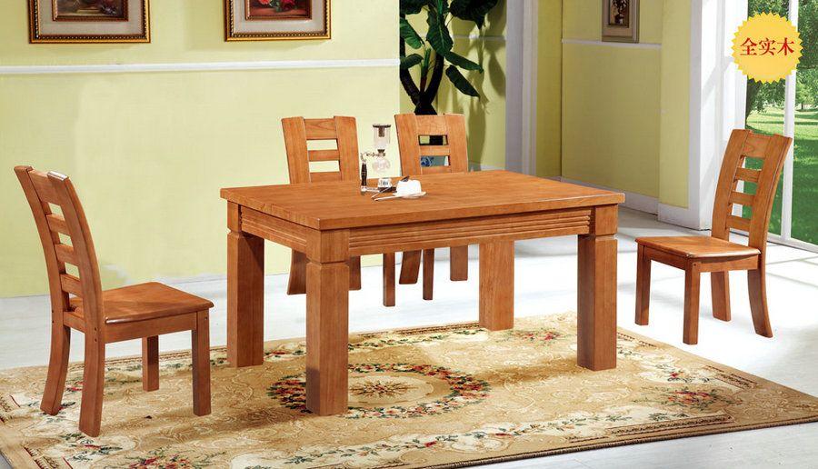推荐全实木橡木中式餐桌椅工厂价直销