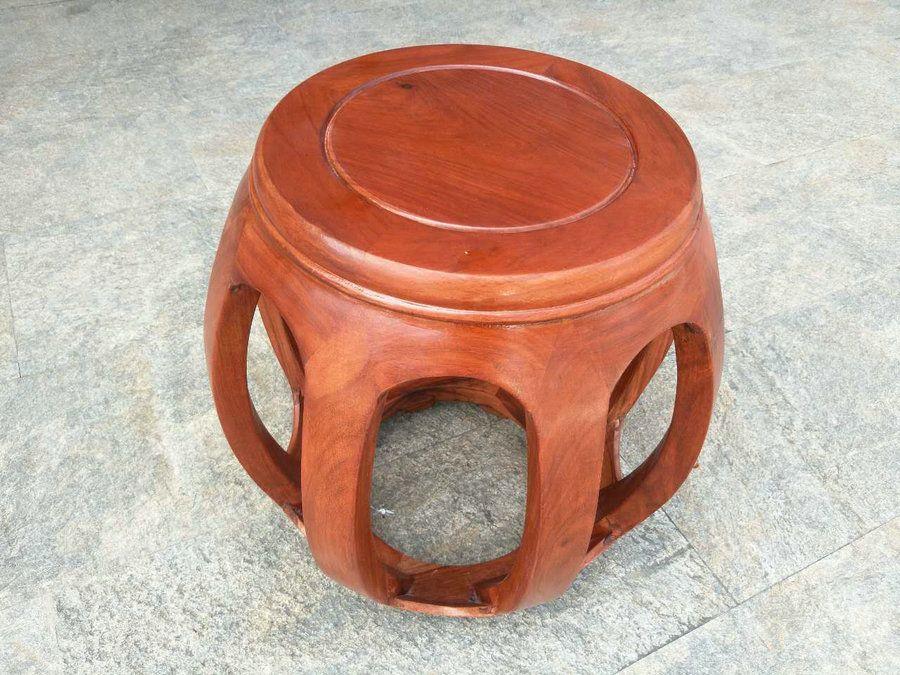 中式花梨木鼓凳古筝花梨木矮凳圆凳 新品上架 促销跑量 薄利多销